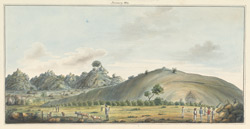 General view of cave temples in the Barabar Hills, Gaya (Bihar). January 1814